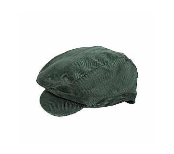Short Brim Green Velvet Cap for Men