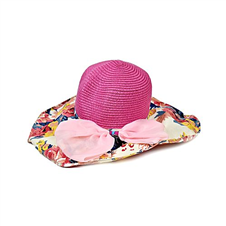 Multi color Mixed Fabric Hat for Ladies