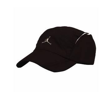 Black Polyester Cap For Men