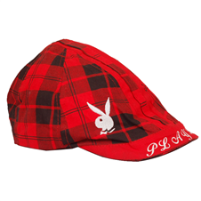 Red And Black Cotton Golf Cap For Men