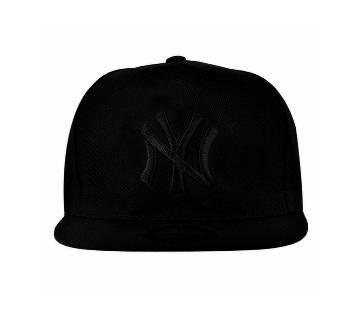 Black Denim Dj Hip Hop Cap For Men