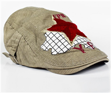 Red And White China Golf Cap For Men