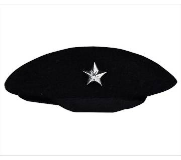Black And Silver Color Cha Cap For Men