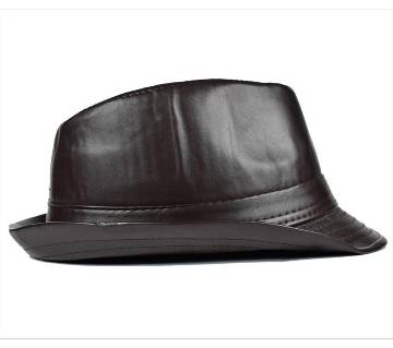 Dark Spice China Leather Hat For Men