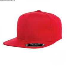 Red Cotton Dj Hip Hop Cap For Men