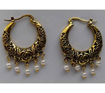 Golden Antique Earrings For Ladies