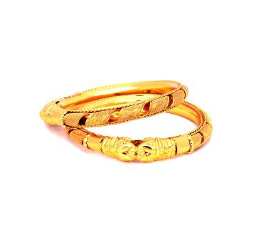 Indian Golden Bangles For Ladies  (2 pcs)