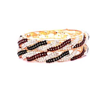 Indian Multi Color Stone Setting Bangles For Ladies  (2 pcs)