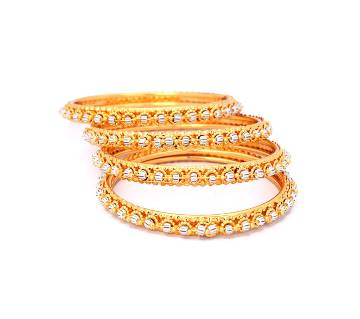Indian Multi Color Stone Setting Bangles For Ladies (4 pcs)