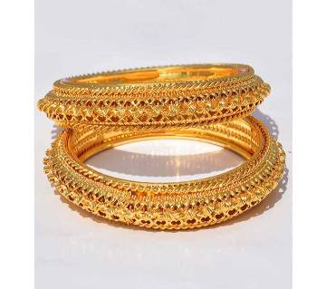 Indian Gold Plated Bangles For Women - 2Pc
