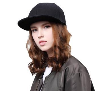 Black Cotton DJ Hip Hop Cap For Women