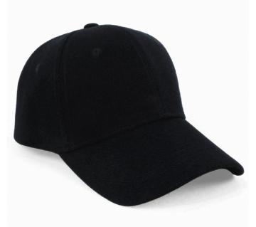 Black Denim Cotton Cap For Men