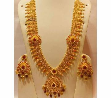 Ladies Gold Plated Necklace and Earrings