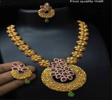 Indian Joypuri 1st Grade Gold Plated Necklace Set