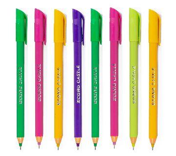Econo Castle Multi Color Ball Pen (Pack of 20 Pens)