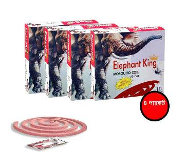 Elephant King Mosquito Coil (4 packets, Total 40 pieces))