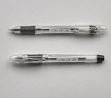 ECONO Soft Grip Ball Pen - 3 Packet
