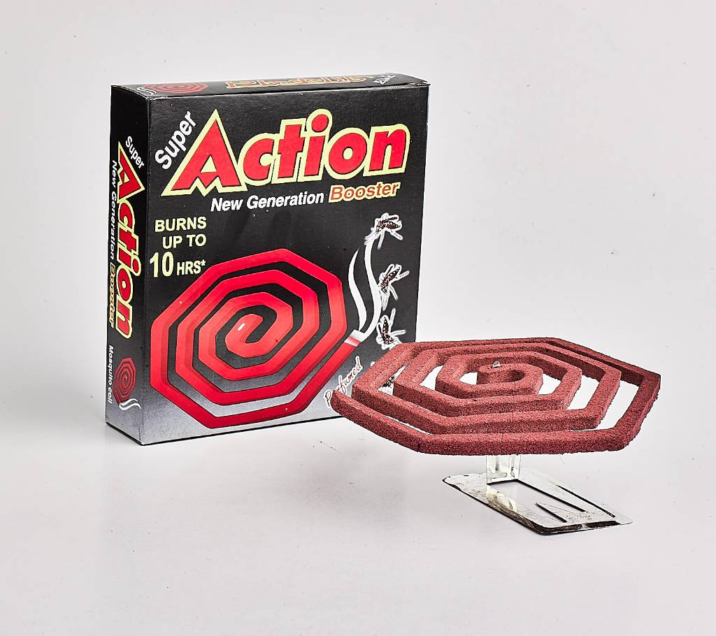 Super Action New Generation Booster Mosquito Coil - Pack of 10 বাংলাদেশ - 784963