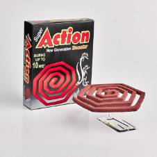 Super Action New Generation Booster Mosquito Coil - Pack of 10