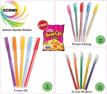 Econo Scholar Bundle Ball Pen (26 Ball Pens)