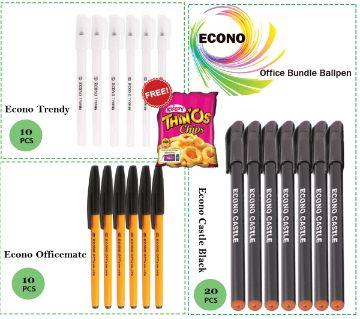 Econo Office Bundle Ball Pen (40 Pens)