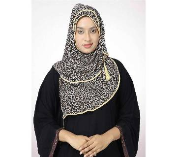 Black and Golden Georgette Hijab for Women