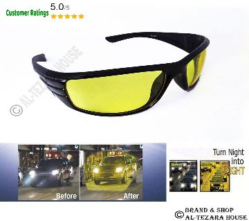 Night Vision Driving, Biking & cycling glasses -Yellow
