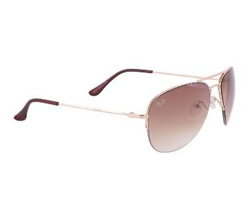 Golden Metal Frame and Brown Sunglass For Men