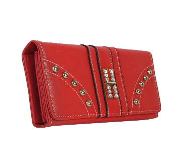 Diamond Designed Red Clutch for Women