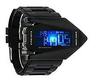 Digital Black Dial LED Watch for Men