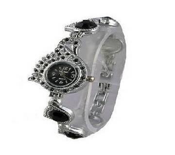 Stainless Steel Bracelet Watch for Women-Black