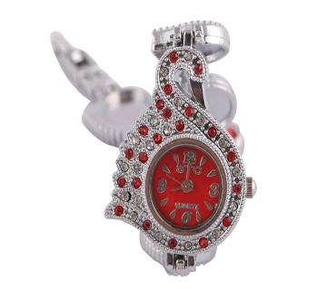 Stainless Steel Bracelet Watch for Women-Red