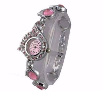 Stainless Steel Bracelet Watch for Women-Pink