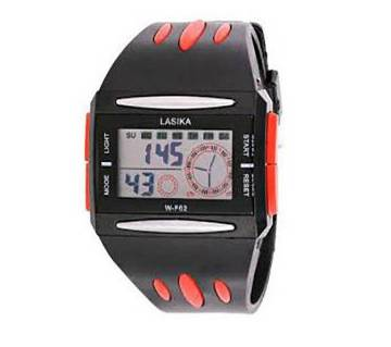 Lasika Digital Wrist Watch for Men-Red