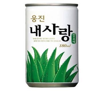 Woongjin Aloe Juice 10% Can - 180ml (2 Cans)