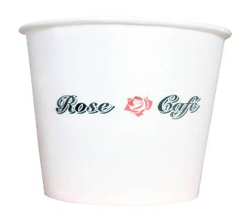 Rose Cafe Paper Cup (150ml) 100 pcs