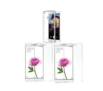 Pack of 3 - Silicon Soft Case with 2 Glass Protect