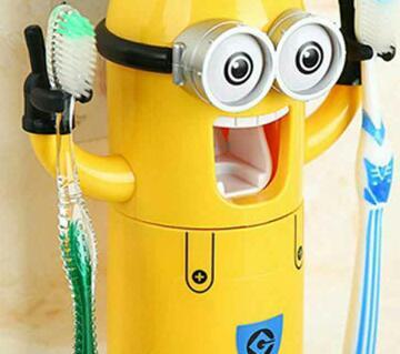 Minion toothpaste ডিসপেন্সার + ব্রাশ হোল্ডার