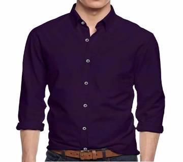 Purple Panama জেন্টস ফুল স্লিভ ক্যাজুয়াল শার্ট