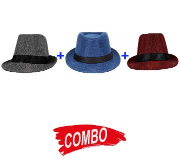 China Cotton Hat For Men Combo of 3 pieces