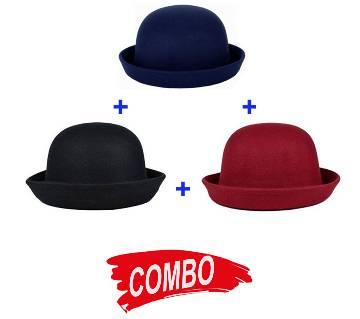 Dhomm Hat For Men Blue Combo of 3pcs