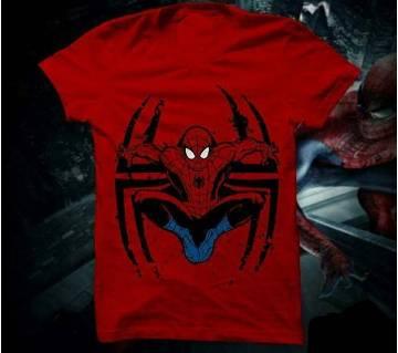 Spiderman মেনজ রাউন্ড নেক টি-শার্ট