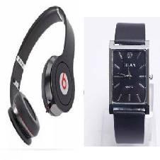 Beats Solo HD Wired Headphones (Copy) + TITAN Gentts Watch