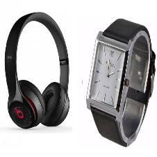 Beats Solo 2 Wired Headphones (Copy) + TITAN Gentts Watch