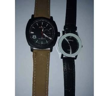 Curren gents wrist watch+ BARIHO ladies watch combo