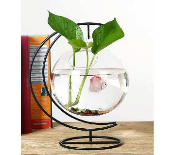 Moon shaped hanging aquarium vase