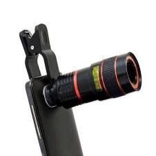8x Telephoto Mobile Camera Zoom Lens - Black