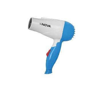 Blue and White Nova Foldable Hair Dryer - NV-1290