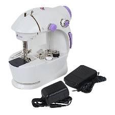 Mini Sewing Machine - White and Purple