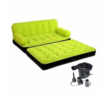 5 in 1 Inflatable Sofa Bed Single with pumper বাংলাদেশ - 6362641